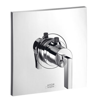 Hansgrohe 39711821 Axor Citterio Thermostatic Trim with Lever Handle - Brushed Nickel (Pictured in Chrome)