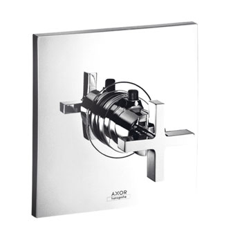 Hansgrohe 39716821 Axor Citterio Thermostatic Trim with Cross Handle - Brushed Nickel (Pictured in Chrome)