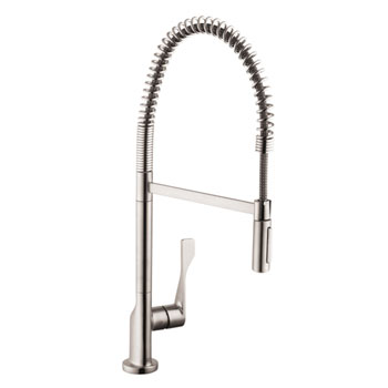 Hansgrohe 39840801 Axor Citterio Semi Pro Single Lever Kitchen Faucet - Steel Optik