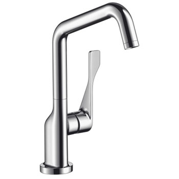 Hansgrohe 39851801 Axor Citterio Bar Faucet - Steel Optik (Pictured in Chrome)