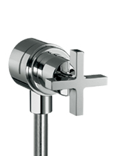 Hansgrohe 39883001 Axor Citterio Fix Fit Wall Outlet - Chrome (Pictured in Brushed Nickel)