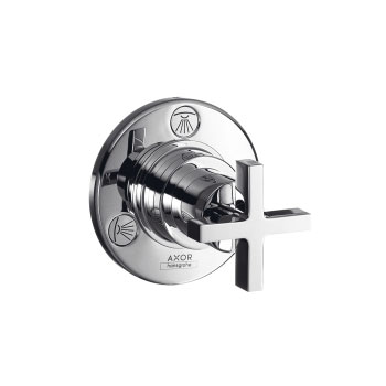 Hansgrohe 39927821 Axor Citterio Trio/Quattro Diverter Trim with Cross Handle - Brushed Nickel (Pictured in Chrome)