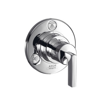 Hansgrohe 39931821 Axor Citterio Trio/Quattro Diverter Trim with Lever Handle - Brushed Nickel (Pictured in Chrome)