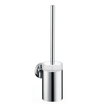 Hansgrohe 40522820 E & S Accessories Toilet Brush with Holder - Brushed Nickel (Pictured in Chrome)