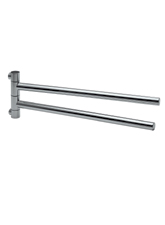 Hansgrohe 40820820 Axor Citterio Twin Towel Bar - Brushed Nickel (Pictured in Chrome)