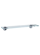Hansgrohe 40860820 Axor Starck X Glass Shelf - Brushed Nickel