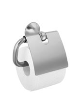 Hansgrohe 41338820 Axor Terrano Toilet Paper Holder with Cover - Brushed Nickel