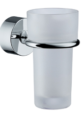 Hansgrohe 41534820 Axor Uno Toothbrush Holder/Tumbler - Brushed Nickel (Pictured in Chrome)