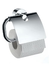 Hansgrohe 41538820 Axor Uno Toilet Paper Holder with Cover - Brushed Nickel (Pictured in Chrome)