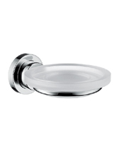 Hansgrohe 41733820 Axor Citterio Soap Dish and Holder - Brushed Nickel (Pictured in Chrome)