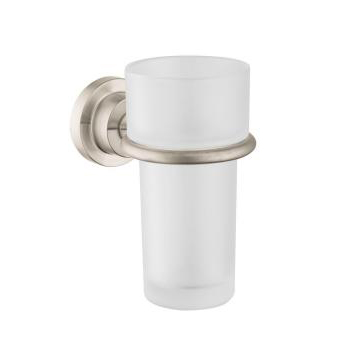 Hansgrohe 41734820 Axor Citterio Wall-Mounted Tumbler and Holder - Brushed Nickel