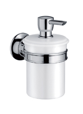 Hansgrohe 42019820 Axor Montreux Soap/Lotion Dispenser - Brushed Nickel (Pictured in Chrome)