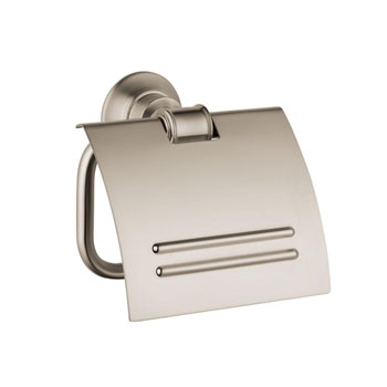 Hansgrohe 42036820 Axor Montreux Toilet Paper Holder with Cover - Brushed Nickel