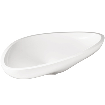 Large White Sink : ... 42300000 Axor Massaud Large Vessel Sink - White - FaucetDepot.com