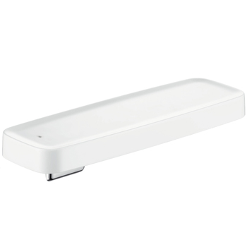 Hansgrohe 42669400 Axor Bouroullec Large Wall-Mounted Shelf for Shower - White/Chrome