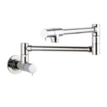 Hansgrohe 04057860 Talis S Wall-Mounted Pot Filler - Steel Optik (Pictured in Chrome)