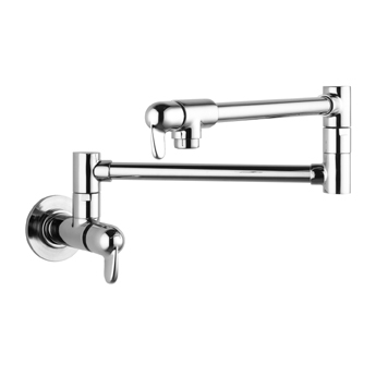Hansgrohe 04059860 Allegro E Wall-Mounted Pot Filler - Steel Optik (Pictured in Chrome)