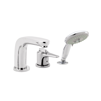 Hansgrohe 04131820 Metro E Trim 3-Hole Themostatic Tub Filler With Handshower - Brushed Nickel (Pictured in Chrome)
