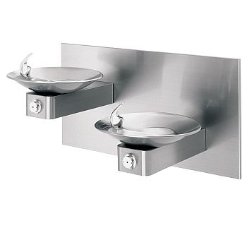 Haws 1011 Barrier-Free Dual Wall Mount Fountain - Stainless Steel
