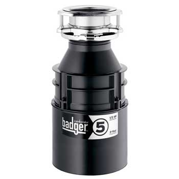 InSinkErator Badger 5, 1/2 HP Garbage Disposal with Power Cord