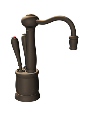InSinkErator F-HC2200MB Victorian Series Hot and Cool Water Dispenser, Faucet Only - Mocha Bronze