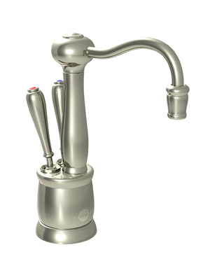 InSinkErator F-HC2200PN Indulge Antique Hot and Cool Water Dispenser, Faucet Only - Polished Nickel
