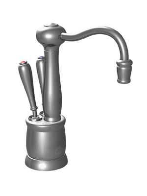 InSinkErator F-HC2200SN Victorian Series Hot and Cool Water Dispenser, Faucet Only - Satin Nickel