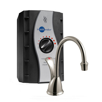 InSinkErator H-WAVESN-SS TranScape Wave Hot Water Dispenser with Stainless Steel Tank - Satin Nickel