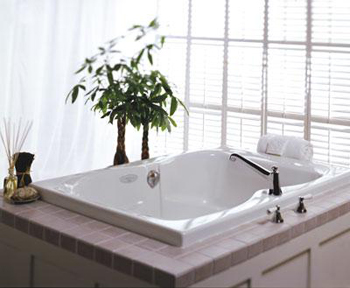 Jacuzzi� BE20-959 Mito 6-ft Pure Air� II Bath Tub - White