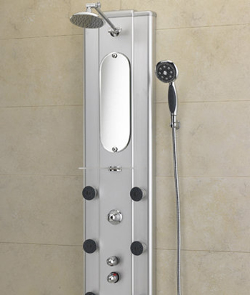 Jacuzzi� EC33 Ristorre Metallo� Shower Panel - Brushed Chrome