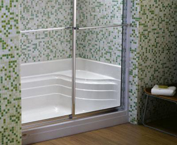 Jacuzzi N656-959 Bonaire 60 in x 32 in x 24.5 in Single Threshold Shower Base - White