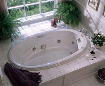 Jacuzzi� N865-969 Gallery 6' Jetted Bath - Oyster