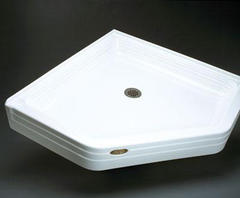 Jacuzzi� T358-959 Neo-Angle Tru-Level 38 x 38 x 6 Single Threshold Shower Base - White
