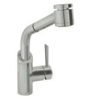 Jado 800/850/355 Coriander Single Handle Kitchen Faucet with Pull-Out Spray - Ultra Steel