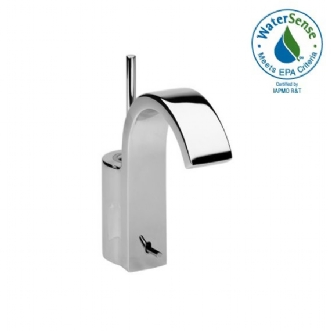 Jado 831/001 Glance Single Handle Centerset Bathroom Faucet with Metal Lever Handle - Ultra Steel