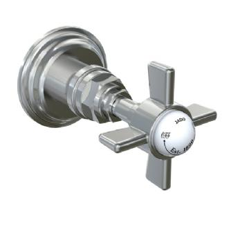 Jado 845/020 Savina 1/2 in Wall Valve, Cross Handle - Old Bronze (Pictured in Chrome)