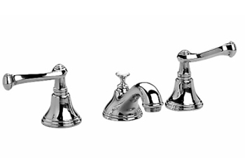 Jado 853/918/150 Colonial Double Handle Widspread Lavatory Faucet - Platinum Nickel