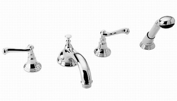 Jado 855/848/100 Colonial Double Handle Roman Tub Faucet with Handshower - Chrome