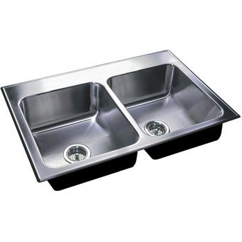 Just Sinks Dl 2233 B Gr 3h Double Bowl 18 Gauge T 304