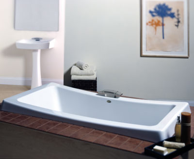 Jacuzzi� BA06-959 Allusion 7236 Soaking Bath 6'- White