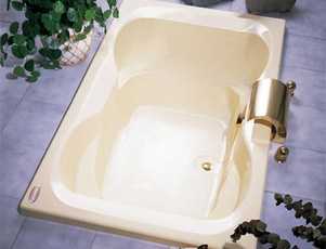 Jacuzzi� H524-959 Mito 6 Soaking Bath 6'- White (Pictured in Almond)