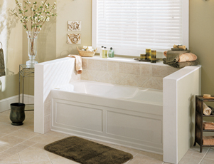 Jacuzzi� H581-959 Cetra� 532 Soaking Bath with Integral Skirt 5'- White