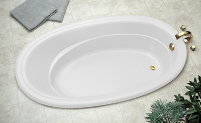 Jacuzzi� RIV6638ALR2XXW Riva� Drop In Comfort Pure Air� Bathtub - White