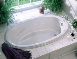 Jacuzzi� N870-959 Gallery 6 Oval Soaking Bath 6'- White
