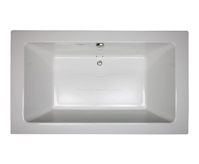 Jacuzzi� SIA7242BCXXXXW Sia� Drop In Soaking Bathtub with Center Drain - White