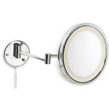 Jerdon HL1016CL LED Wall Mount Mirror - Chrome