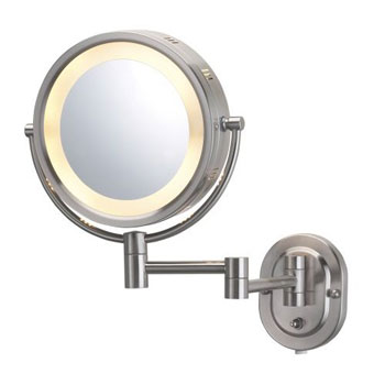 Jerdon Hl65n Halo 8 Quot Lighted Wall Mount Magnifying Mirror
