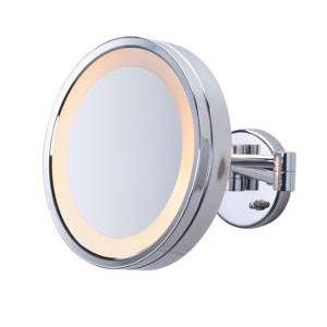 Jerdon HL7CF Halo Lighted Wall Mount Mirror - Chrome
