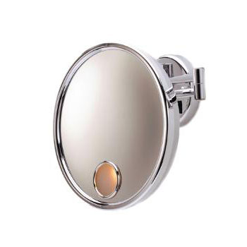 Jerdon JD7C Euro Lighted Wall Mount Mirror - Chrome