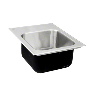 Just Manufacturing Sl 1815 B Gr Stylist Group Single Bowl 18 Gauge Drop In Sink Stainless Steel